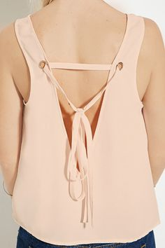 Self-Tie V-Cut Top | Forever 21 - 2000150737