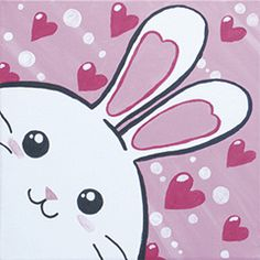 Social Artworking: Hunny Bunny Inexpensive at-home painting parties for kids and adults
