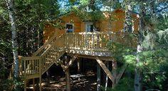 Tree house Camping in Miramichi, New Brunswick Canada