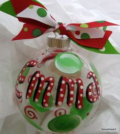Personalized ornaments - how to.