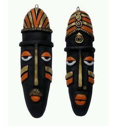 Terracotta Bad mask remover of bad omen masks masking and