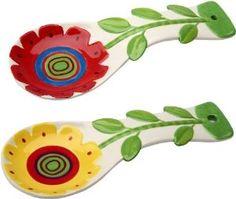 Amazon.com: Appletree 9-1/4-Inch Ceramic Spoon rest, Set of 2 ...