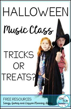 "Some amazing free recorder, ukulele, guitar and color note free resources are the treats...read more to learn a few tricks in the latest blog post ""Halloween Music Class: Tricks or Treats?"""