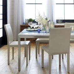 Marble Top/ Stainless Steel Base 48x28 Parsons Dining Table | Crate And  Barrel