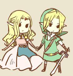 zelda and link, so adorable.