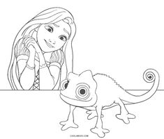 Free Printable Rapunzel Coloring Pages For Kids Rapunzel Coloring Pages, Disney Princess Coloring Pages, Disney Princess Colors, Printable Coloring Pages, Coloring Sheets, Coloring Pages For Kids, Colouring, Rapunzel Disney, Princess Rapunzel
