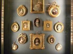 The Oval Room, The Wallace Collection - I would love to do this with pictures of my ancestors.
