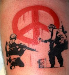 banksy peace tattoo #banksy #banksytattoo #peacetattoo