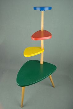 Midcentury-inspired plant stand on eBay