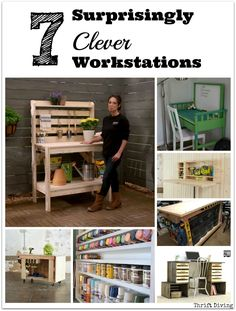 7 Surprisingly Clever Workstations - Check out these projects if you're tired of cookie cutter DIY workstations! - ThriftDiving.com