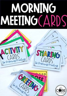 This is perfect for your Morning Meeting. 108 cards in all! This will make planning a breeze.