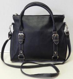 Croft & Barrow Signature Black Crossbody Satchel Shoulder Bag Handbag Purse #CroftBarrow #CrossbodyShoulderBag