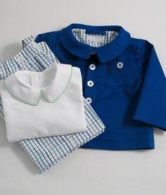 Blue-Green Check Bermuda Shorts/Straps - Patricia Smith Designs