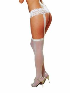 #plussizelingerie Dreamgirl Women's Plus-Size Sheer Garter Belt and Stockings Set: At our website you can expect amazing products… #lingerie