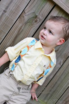 Little Boy Suspenders, need to make these for theo!!