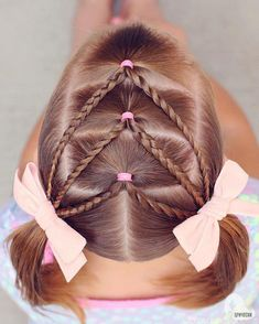 17 Trendy Kids Hairstyles You Have to Try-Out on Your Kids, HAİR STYLE, Elastic Chevron into Pigtails! This style is incredibly easy to do and is a great 2 day style too! Click above to see instructions on how to do this s. Baby Girl Hairstyles, Easy Hairstyles For Long Hair, African Braids Hairstyles, Trendy Hairstyles, Braided Hairstyles, Gorgeous Hairstyles, Easy Little Girl Hairstyles, Short Haircuts, Hairdos