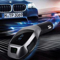 [Visit to Buy] Perfect Fashion Design Wireless Bluetooth LCD MP3 Player Car Kit SD MMC USB FM Transmitter Modulator  Car Styling @126 #Advertisement