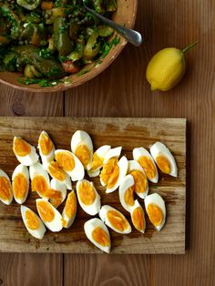North African grilled capsicum and egg salad - The Fruitful Kitchen Egg Salad, Grilling, Eggs, African, Stuffed Peppers, Fruit, Kitchen, Recipes, Cuisine