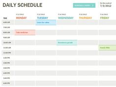 Daily Hourly Planner Template Excel Beautiful Daily Schedule Template Printable Daily Planner Template Excel Templates S A C Weekly Schedule Template Excel, Day Planner Template, Daily Calendar Template, Timetable Template, Schedule Templates, Daily Planner Printable, Schedule Printable, Calendar Printable, Invoice Template