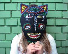 Aboriginal Dot Painted  Mask, 3rd grade