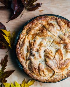 asian pear and apple pie with leafy crust // brooklyn supper