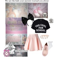 Ariana grande inspired outfit polyvore kawaii pink