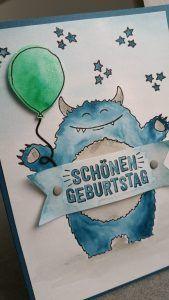 Yummy in my Tummy | Monster | Stampin' Up! | Frühling-/Sommerkatalog 2017  #Geburtstag #Glückwunschkarten #Jungen #Kinder #Monster #Stampinup
