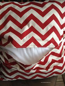 Chalkboard Blue: Envelope Pillow... Chevron style