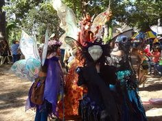 Magnolia Fawn the Fairy with Ginger the Fairy at the Texas Renaissance Festival