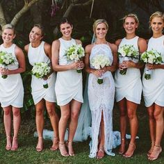 Not a fan of the bride's dress, but I love the bridesmaids' dresses!!