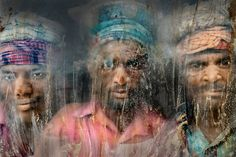 Second place of 2015 National Geographic Traveler Photo Contest is Faisal Azim's illuminating image of three gravel workmen looking through the sand smudged window in Chittagong, Bangladesh almost looks like a pastel drawing with its spectacular colours and textures