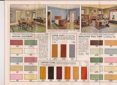 Interior Colors available from Gordon Van Tine in 1920s.