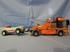 Lego Truck, Tow Truck, Trucks, Lego Building, Building Ideas, Lego Vehicles, Lego Projects, Lego Stuff, Lego City
