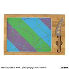 Vanishing Trails B/P/G Rectangular Cheeseboard