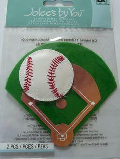 BASEBALL DIAMOND - EMBELLISHMENT. Home run, strike, little league softball - Scrapbooking ideas layouts -  Jolee's Boutique by ExpressionsofFaith on Etsy, $2.99