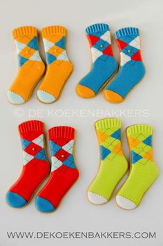 Sock Cookies           By de keoken bakkers,  Multi Argyll