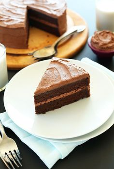 1 bowl vegan chocolate cake made with simple ingredients. A two layer, chocolate buttercream-frosted cake that's moist, fluffy and rich in chocolate flavor.