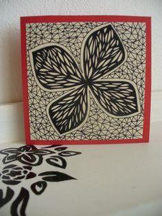 Motýl otevírací přání, 10x10 cm ručně malované I Card