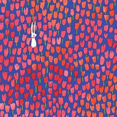 Sommer by Sarah Jane for Michael Miller - Tulip Tangled in Blueberry   PRE-ORDER Fabric   Quilting, Sewing, Home Decor supplies