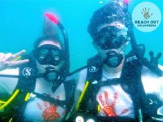 Underwater with Reach Out Volunteers