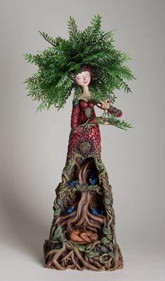 Christine K. Harris – The Sculpture of Christine K. Art Sculpture, Wall Sculptures, Memes Arte, Spirited Art, Assemblage Art, Magical Creatures, Clay Art, Love Art, Altered Art