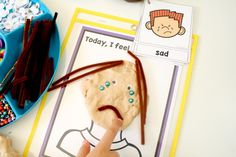 Teaching Feelings Today I Feel Play Dough Mats - Fantastic Fun & Learning Art Therapy, Speech Therapy, Teaching Feeling, Emotions Cards, Conscious Discipline, Emotional Development, Daycare Ideas, Play Dough, Feeling Sad