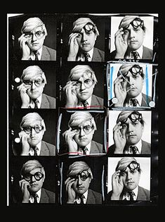 60′s Black and White Contact Sheets by David Bailey - David Hockney