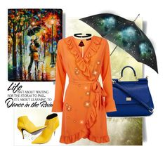 """""""...dancing in the rain..."""" by tgtigerlily on Polyvore featuring Dolce&Gabbana, Totes, Topshop, WALL and WithChic"""