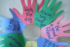 Helping Hands Wreath  This arts & crafts activity will help your child discover the ways she can lend a helping hand to others.