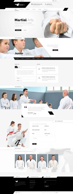 KnockOut - Martial Arts PSD Templates • Download ↓ https://themeforest.net/item/knockout-martial-arts-psd-templates/13800401?ref=pxcr