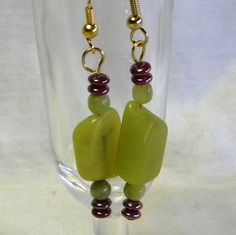 Jade Chunks And Beads with Purple Accent by marilyn1545 on Etsy, $20.00