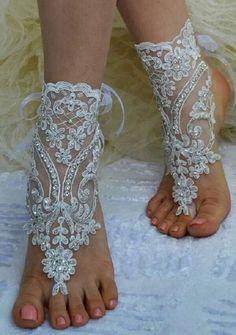 Sandália Pés Descalços Noiva Casamento Praia Barefoot