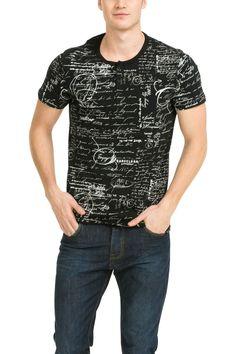 Men's black party T-shirt | Desigual Avind