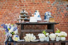 Delft Blue Wedding Ideas Dessert Cake Table http://www.realsimplephotography.net/